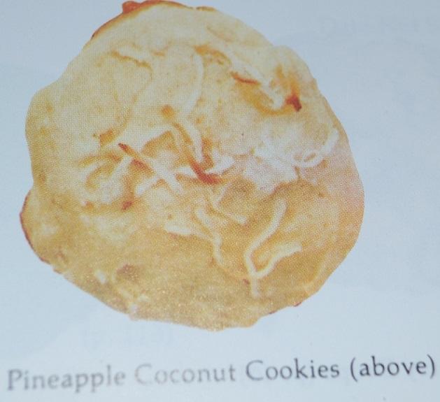 Pineapple coconut cooky/cookie